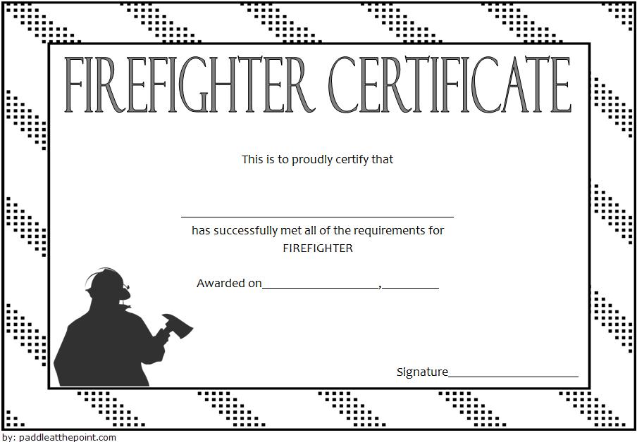 Fire Department Certificate Template Free 1 | Certificate Intended For Firefighter Certificate Template Ideas