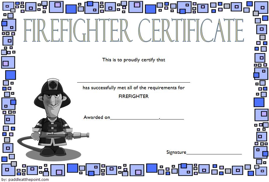 Fire Department Certificate Template Free 2 | Certificate Within Firefighter Certificate Template Ideas