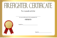 Fire Department Certificate Template Free 3 | Certificate in Firefighter Certificate Template