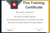 Fire Extinguisher Certificate Template (3) – Templates in Unique Fire Extinguisher Training Certificate Template