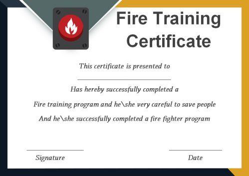 Fire Extinguisher Certificate Template (3) - Templates In Unique Fire Extinguisher Training Certificate Template