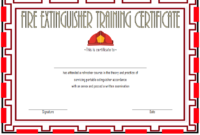 Fire Extinguisher Training Certificate Template 03 In 2020 within Fresh Fire Extinguisher Training Certificate Template Free
