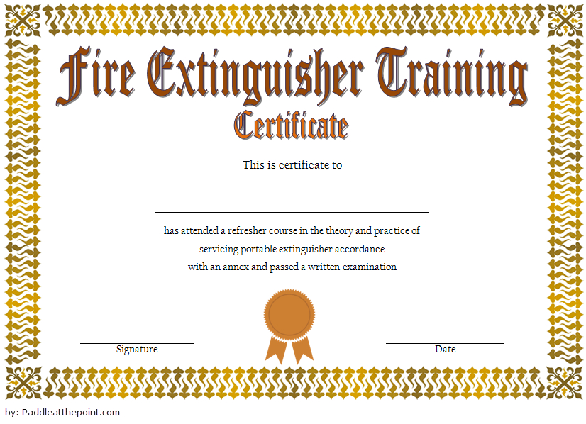 Fire Extinguisher Training Certificate Template Word Free 2 For Fire Extinguisher Training Certificate