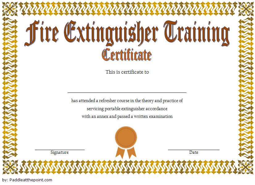 Fire Extinguisher Training Certificate Template Word Free 2 Inside Unique Fire Extinguisher Training Certificate Template