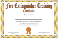 Fire Extinguisher Training Certificate Template Word Free 2 with Fresh Fire Extinguisher Training Certificate Template Free