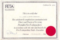 Fire Extinguisher Training Conductedsam Fire Llc A inside Fire Extinguisher Training Certificate