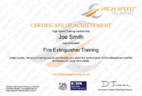 Fire Extinguisher Training Course in Fire Extinguisher Training Certificate