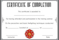 Fire Safety Certificate: 10+ Safety Certificate Templates for Fresh Firefighter Training Certificate Template