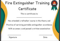Fire Safety Certificate: 10+ Safety Certificate Templates throughout Fire Extinguisher Training Certificate