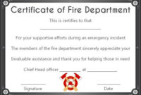 Fire Safety Certificate: 10+ Safety Certificate Templates throughout Fresh Firefighter Training Certificate Template