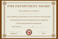 Fire Safety Certificate: 10+ Safety Certificate Templates within Firefighter Training Certificate Template