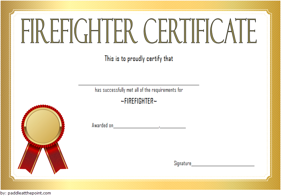 Fire Safety Certificate Template Free [17+ Fresh Ideas] Regarding Firefighter Certificate Template Ideas