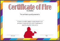 Fire Safety Training Certificate Template Free 1 In 2020 in Fire Extinguisher Training Certificate Template