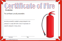 Fire Safety Training Certificate Template Free 3 | Fire with Fire Extinguisher Training Certificate
