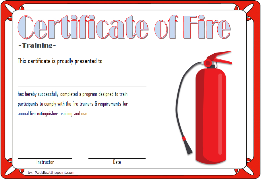 Fire Safety Training Certificate Template Free 3 | Fire Within Fresh Fire Extinguisher Training Certificate Template Free