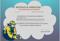 Firefighter Appreciation Certificate | Certificate Templates With Regard To Firefighter Certificate Template Ideas