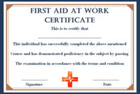 First Aid Certificate Archives – Page 2 Of 2 – Template Sumo within Unique First Aid Certificate Template Free