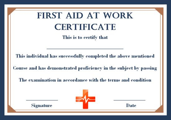 First Aid Certificate Archives - Page 2 Of 2 - Template Sumo Within Unique First Aid Certificate Template Free