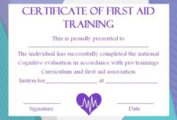 First Aid Certificate Template: 15 Free Examples And Sample intended for First Aid Certificate Template Free