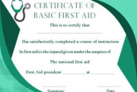 First Aid Certificate Template: 15 Free Examples And Sample throughout Unique First Aid Certificate Template Free