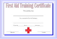 First Aid Certificate Template Free 2 | Certificate regarding Unique First Aid Certificate Template Free