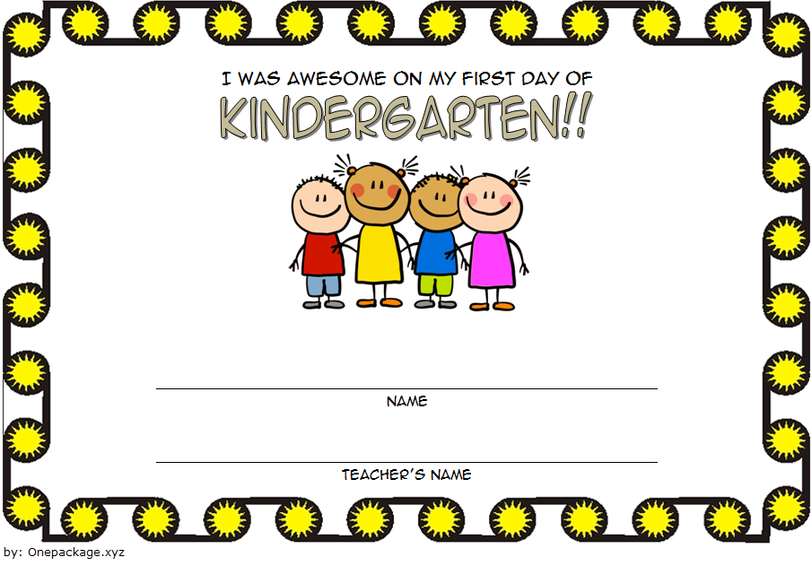 First Day Of School Certificate Printable Free 2 In 2020 throughout First Day Of School Certificate Templates Free