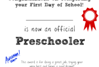 First Day Of School Printable About Me Signs | Bear Hugs And pertaining to First Day Of School Certificate Templates Free