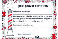 First Haircut Certificate (12Ct.) with Best First Haircut Certificate