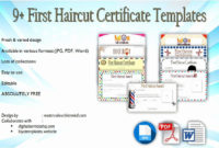 First Haircut Certificate Free Template Elegant First regarding First Haircut Certificate Printable Free 9 Designs