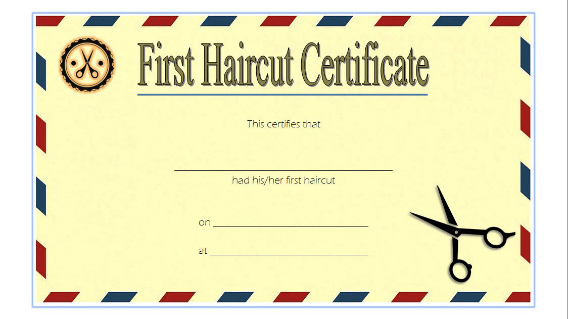 First Haircut Certificate Printable Free 2 In 2020 | First Within Barber Shop Certificate Free Printable 2020 Designs