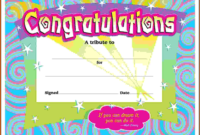 First Prize Winner Certificate Template Congratulations I within Congratulations Certificate Template 10 Awards
