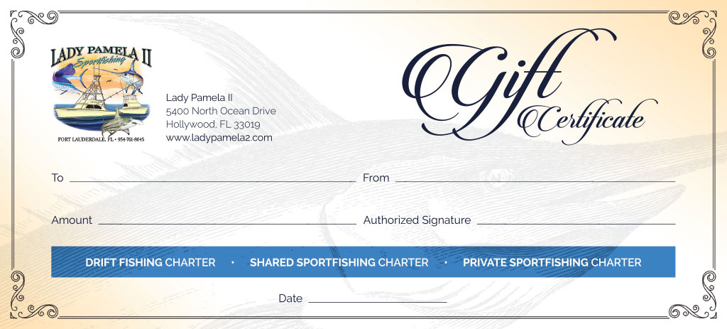 Fishing Charter Gift Certificates For Deep Sea Fishing Gift Intended For Fishing Gift Certificate Template