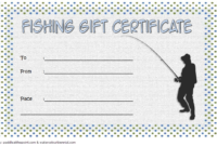 Fishing Gift Certificate Template Free (1St Design) In 2020 intended for Fishing Gift Certificate Editable Templates