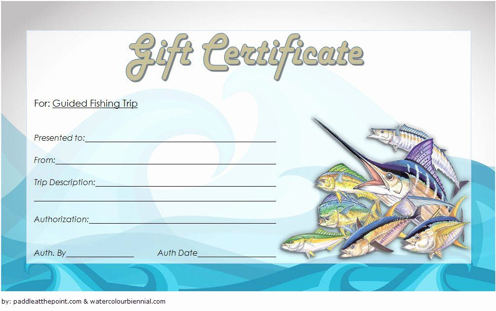 Fishing Gift Certificate Template New Fishing Gift in Fishing Gift Certificate Editable Templates