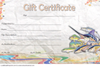 Fishing Trip Gift Certificate Template Free (1St Design) In intended for Unique Fishing Gift Certificate Editable Templates