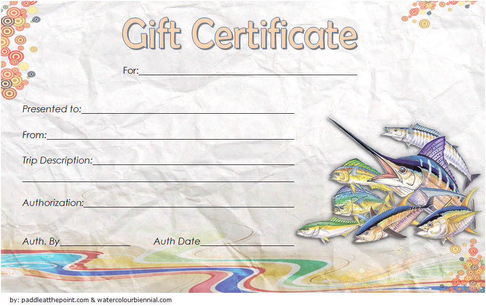 Fishing Trip Gift Certificate Template Free (1St Design) In Pertaining To Best Fishing Gift Certificate Template