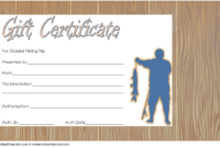 Fishing Trip Gift Certificate Template Free (3Rd Design) In inside Fishing Gift Certificate Editable Templates