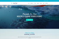 Fishing Website Design Template For Fisherman Club throughout Fishing Certificates Top 7 Template Designs 2019