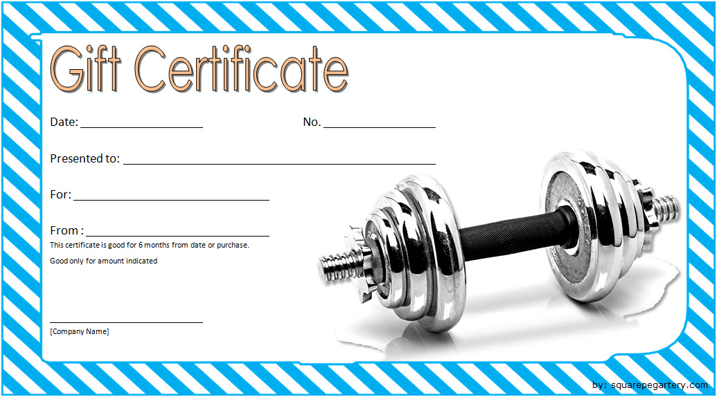Fitness Gift Certificate Template 6 Free Pertaining To Best Fitness Gift Certificate Template