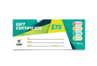 Fitness Trainer Gift Certificate Template Design throughout Fitness Gift Certificate Template