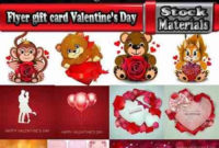 Flyer Gift Card Valentine'S Day Invitation Card Vector Image pertaining to Valentine Gift Certificates Free 7 Designs
