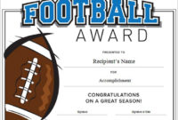 Football Certificate Template Word | Certificate Templates with regard to Best Youth Football Certificate Templates