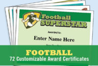 Football Certificates Templates, Youth Football, Kid Certificates,  Certificate Templates, Football Mom, Football Certificate, Football Award regarding Youth Football Certificate Templates