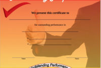 Free 11+ Sample Performance Certificate Templates In Pdf with Fresh Outstanding Performance Certificate Template