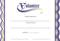 Free 11+ Sample Volunteer Certificate Templates In Pdf | Psd in Fresh Outstanding Volunteer Certificate Template