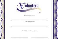 Free 11+ Sample Volunteer Certificate Templates In Pdf   Psd intended for Fresh Volunteer Of The Year Certificate 10 Best Awards