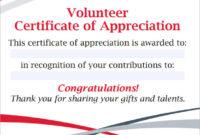 Free 11+ Sample Volunteer Certificate Templates In Pdf   Psd regarding Volunteer Of The Year Certificate 10 Best Awards