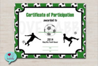 Free 15+ Sample Football Certificate Templates In Pdf | Psd within Fresh Soccer Certificate Template Free 21 Ideas