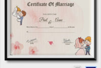 Free 16+ Marriage Certificate Templates In Word | Psd within Marriage Certificate Template Word 10 Designs