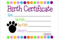 Free 17+ Birth Certificate Templates In Ai | Indesign | Ms regarding Best Pet Birth Certificate Template